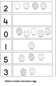 easter egg number count worksheet crafts and worksheets for preschool toddler and kindergarten. Black Bedroom Furniture Sets. Home Design Ideas