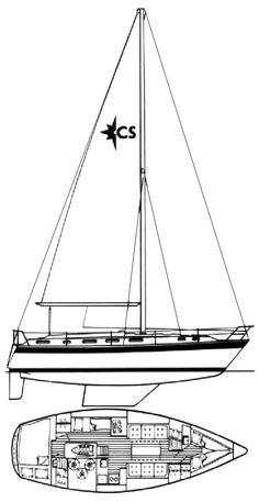 Corsair 36 (Westerly) drawing on sailboatdata.com