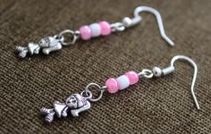 Pink & White Seed Beads Drop/Dangle Earrings Cute Girl Charm Handmade | Jewelry & Watches, Fashion Jewelry, Earrings | eBay!