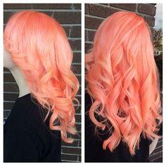 salmon hair colour - Google Search