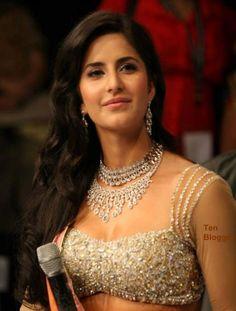 Katrina Kaif - showing off new trendy Necklaces #Katrina #KatrinaKaif #Bollywood