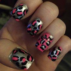 Cheetah print nails!