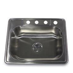 Stainless Steel Rectanglar Kitchen Sink | Overstock.com Shopping - The Best Deals on Kitchen Sinks $139