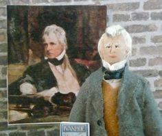 Miniature Doll Sir Walter Scott  Author of Ivanhoe Art Collectible