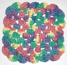 Best Free Crochet » #307 Ruffle Granny Crochet Dishcloth – Maggie Weldon Maggies Crochet