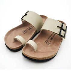 Nueva mujer 2015 zapatos zapatillas sandalias de corcho moda músculo de la vaca ocasional del estilo del verano zapatillas flip flop gran tamaño 5 11 del envío gratis en Sandalias de las mujeres de Calzado en AliExpress.com | Alibaba Group