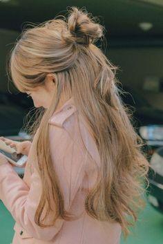Korean Hairstyles Women, Trendy Hairstyles, Fashion Hairstyles, Japanese Hairstyles, Redhead Hairstyles, Hairstyles 2018, Korean Hairstyle Long, Gorgeous Hair, Gorgeous Makeup