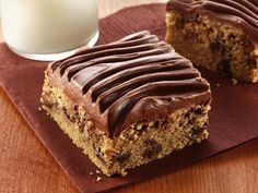 Scrumptiously awesome looking Gluten-free Peanut Butter-Chocolate Chip Bars with Chocolate Frosting.  #food #gluten_free #GF #cooking #baking #dessert