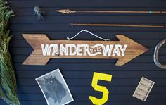 Wander This Way/ Venture Out  Wooden Sign by WinterCabin on Etsy, $60.00