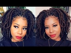 Kinky Twists in 2 HOURS!! | 100% Toyokalon Hair!! - YouTube Afro Kinky Hairstyles, Black Girl Braided Hairstyles, Natural Wedding Hairstyles, Twist Braid Hairstyles, African Braids Hairstyles, Kid Hairstyles, Kinky Twist Styles, Hair Twist Styles, Afro Twist