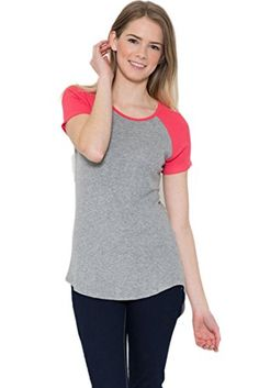 TL Women's 3/4 Sleeve or Short Sleeve Stretchy Raglan Baseball T-shirt Top ** To view further, visit http://www.amazon.com/gp/product/B01B6PFA2K/?tag=ilikeboutique09-20&uv=030816011821