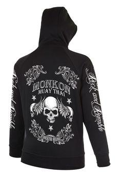 Monkon Muay Thai - Hoodie / T-Shirt Star Skull Design Mockup - Back