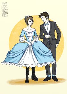 Lola and Cricket go to the dance in style. (From Lola and the Boy Next Door by Stephanie Perkins & from The Art of Young Adult tumblr by Gillian).