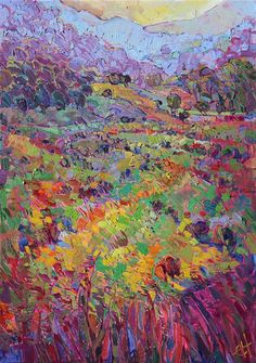 Contemporary impressionism premier coup oil painting by Erin Hanson
