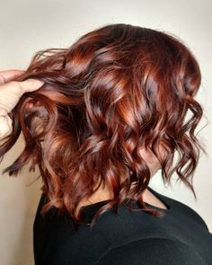 Trends 2018 - Red Hair Color : Picture Description Dimensional auburn red hair color for autumn by Aveda Artist Kelly Haley. Formula: 5 RR on the roots and to low light then I toned