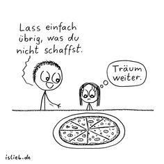 Übrig lassen. Is lieb? | #pizza #essen #hunger #ernährung #islieb