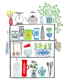 An on-going self initiated project painting shelves and their contents around the home.…