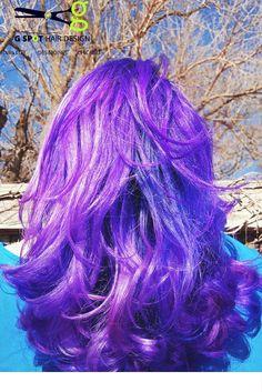 Purple Pink Blue Balayage thanks to Davines, Pravana, Guy Tang Bestie, Olapleas and G Spot Hair Design #DesMoines Iowa  http://gspothairdesign.com/