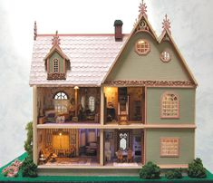 Handcrafted Quarter Scale The Sage Victorian Mansion Dollhouse at Norman's Country Creek