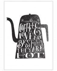 coffee & love-Art Print