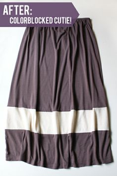 crafterhours: Colorblock Skirt Refashion: A Tutorial by Michael Ann Made (minus the baby bump of course)