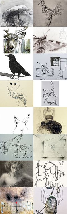 Drawn to it.. in celebration  of #DrawingAugust an Etsy Treasury curated by Andrea Clement on Etsy--Pinned with TreasuryPin.com Please click and follow the link to see each individual artist's details, thanks.
