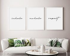 Family home Wall Colors - Let's Stay Home Wall Art Let's Stay Home Art Print Set Of 3 Prints Let's Stay Home signs Lets Stay Home Decor Set Of Three Prints Tumblr Room Decor, Tumblr Rooms, Inhale Exhale, Love Is Patient Love Is Kind, Be Our Guest Sign, Guest Room Decor, Bedroom Decor, Bedroom Wall, Master Bedroom