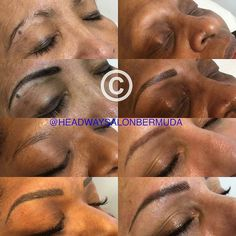 : @headwaysalonbermuda -  A selection of my work here in #Bermuda This treatment is $500 which includes a top up a month later - lasts up to 5 years 4 very different clients all wanting the perfect brows. Client 1 - overplucked Client 2 - alopecia sufferer Client 3 - faint/soft brows Client 4 - tattoo cover up I can cater for and adapt my skills to fix all eyebrow problems including cancer patients (doctors note required). Most recently been fixing other people's work where clients have been…