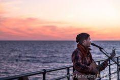 Peter Su performing on Santa Monica Pier Los Angeles December 2015