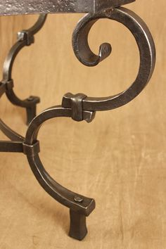 hand forged scroll detail