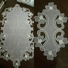 Diy Crafts Videos, Hobbies And Crafts, Embroidery Stitches, Embroidery Designs, Satin Flowers, Culture, Cutwork, Table Runners, Decorative Plates