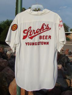 Bowling Shirt Rayon Gabardine Beer Embroider by Marvinboots
