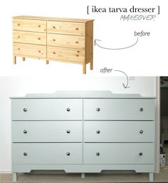 Ikea Tarva Dresser Makeover: Zinssers Bulles Eye Zero Primer / Benjamin Moore Paint sanding between coats Ikea, Furniture, Ikea Tarva Dresser, Furniture Hacks, Diy Furniture, Diy Dresser Makeover, Ikea Diy, Ikea Makeover, Ikea Furniture Hacks