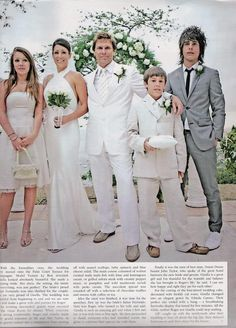 Roger and Gisella's wedding day with his kids