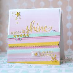 Lea's Cupcakes & Sunshine: Julie's Birthday Bash Blog Hop - sparkle and shine on your birthday #winniewalter