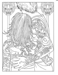 The 26 Best Body Art Coloring Pages Images On Pinterest