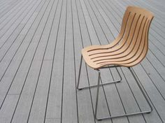 Outdoor Chair / love this plywood prototype from Jorre van Ast in collaboration with Tomek Rygalik