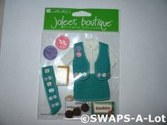 CLEARANCE Girl Scout Scrapbook Sticker Jolee's Boutique Retired Her Scouting