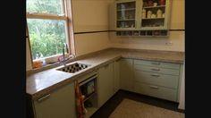 Piet zwart keuken met terazzo aanrecht