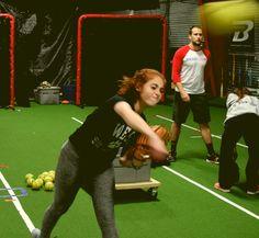 Improve softball throwing technique