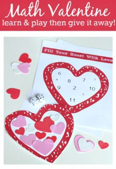 MATH VALENTINE GAME WITH DICE  --  12 COOLEST VALENTINE'S DAY SCHOOL PARTY GAMES — PART 4