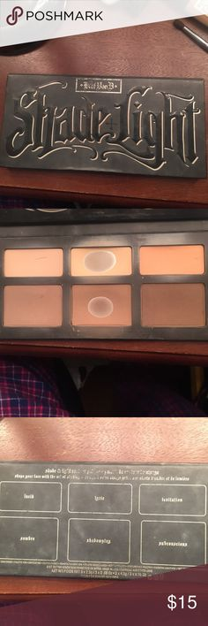 Kay Von D shade and light contouring pallet I've used the middle shades as shown in pictures but the other ones still have a lot of product, I don't use it anymore even though it's pretty Kat Von D Makeup