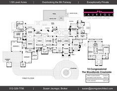 Carlton Woods | Jauregui Architects Luxury Floor Plans, Luxury House Plans, Dream House Plans, House Floor Plans, Bel Air Mansion, Architectural Design House Plans, Architectural Models, House Plans Mansion, Mansion Designs
