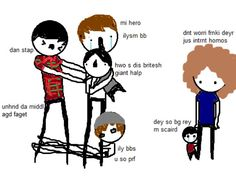 Badly drawn mcr meet Dan and Phil, THIS IS MY FAVOURITE THING