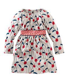 Look what I found on #zulily! White Lychee A-Line Dress - Toddler & Girls by Tea #zulilyfinds