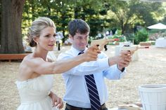 bride and groom play target shooting game at their carnival themed wedding Wedding Games For Guests, Our Wedding, Wedding Stuff, Carnival Wedding, Event Design, More Fun, Event Planning, Wedding Inspiration, Bride