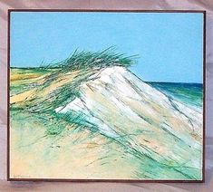 Oil On Canvas Signed Pontbriand (Roger) Titled 'Wellfleet Dunes' Dune Art, Canvas Signs, Pictures To Paint, Limited Edition Prints, Oil On Canvas, Waves, Paintings, Outdoor, Ebay