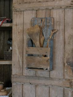 Want one of these wooden wall pokets...could make one with old boards!