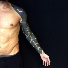 Full Blackwork Tattoo Sleeve