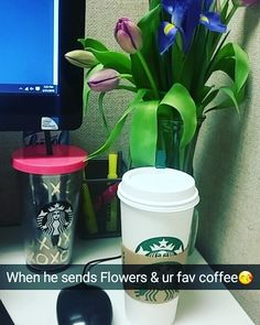 When he sends ur fav #flowers & brings your fav #coffee awwweeee #heisakeeper #special #omg by estherylaschulas